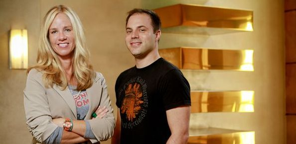 Diane Nelson and Geoff Johns